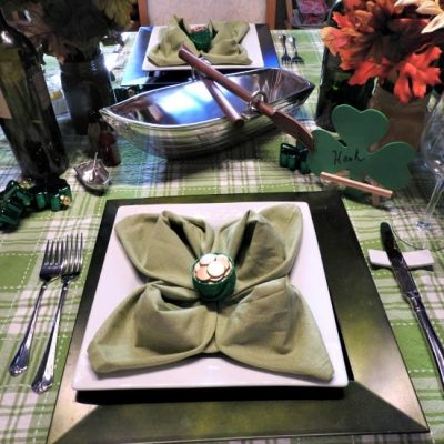 St Patricks Day Table and a wee bit o'Irish