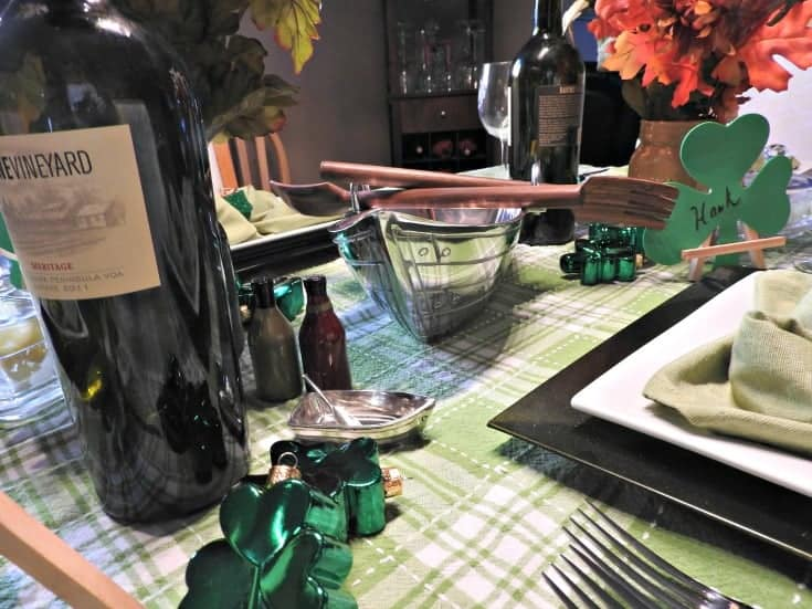 boats and shamrocks on the table