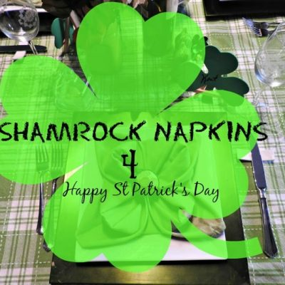 Shamrock Napkins for St Patricks Day