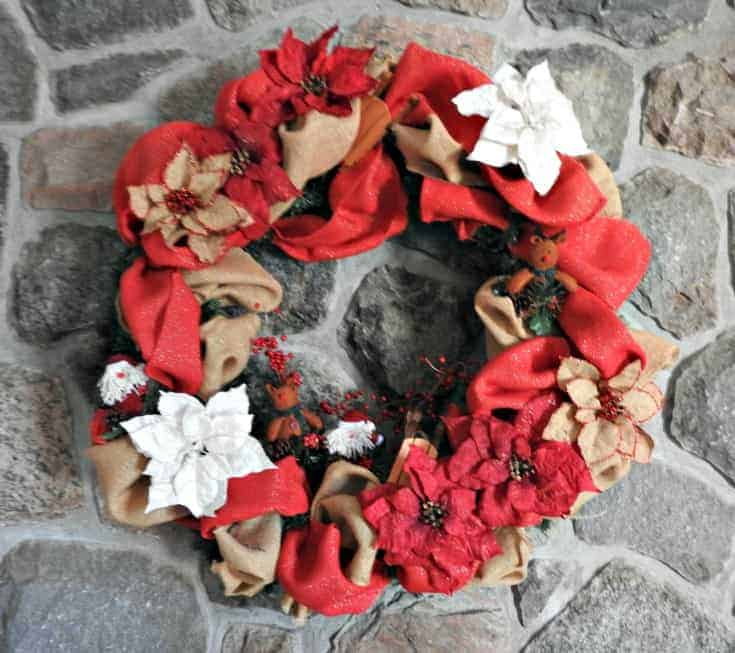 Christmas Fireplace wreath