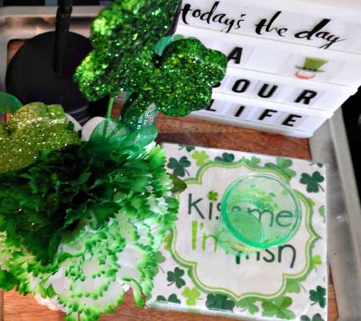 St Patrick's Day Bar Cart and accessories