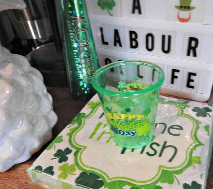 St Patrick's Day Bar Cart