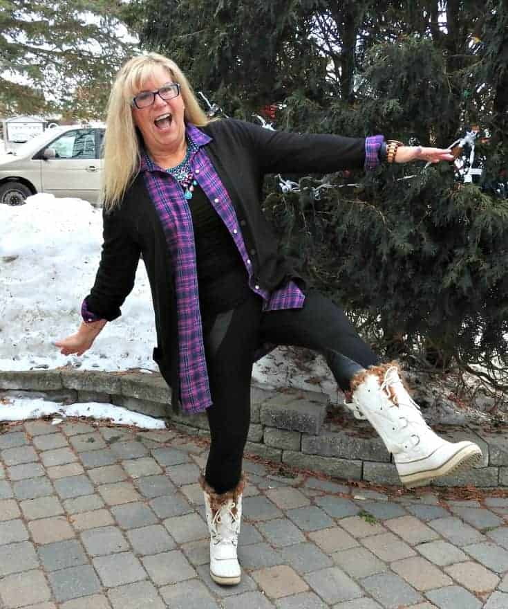 Svelte leggings, Old Navy flannel and cardigan for travel outfits plus skecher boots and 7 Charming sisters bib necklace