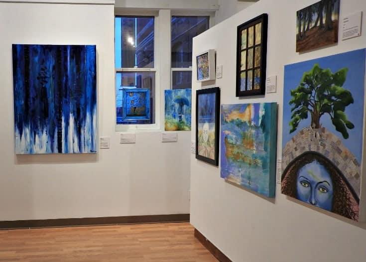 study in blue in Orillia