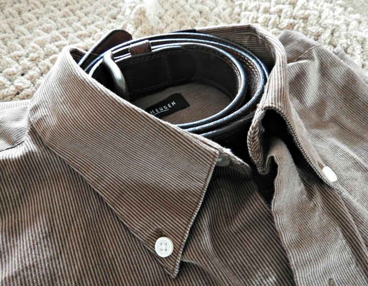 belt and shirt