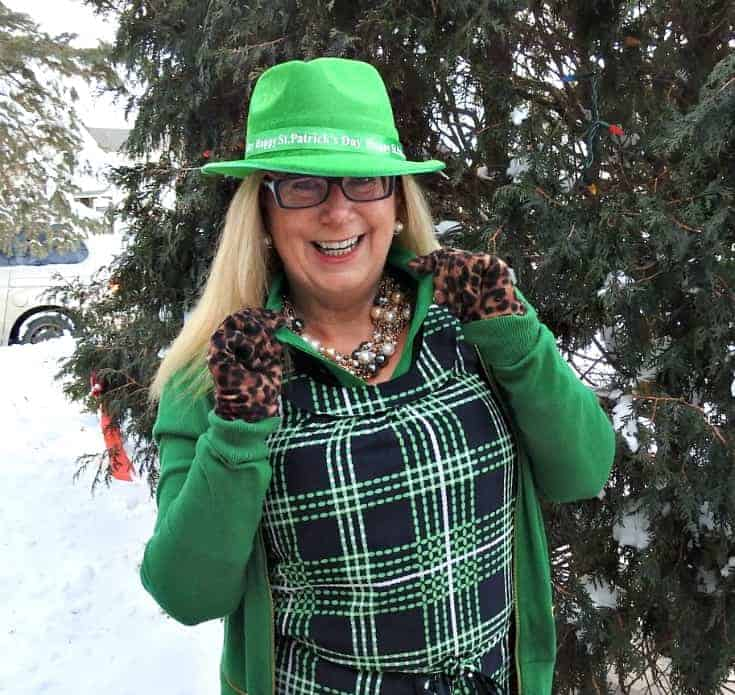 green fedora for St Paddy's day