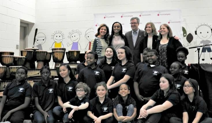 Sophie Grégoire Trudeau, Ruth B and MusiCounts with St Elizabeth students