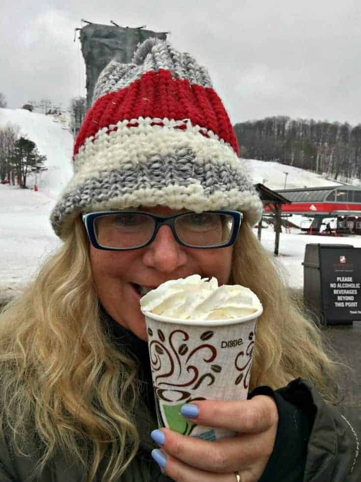 hot chocolate at Horseshoe resort