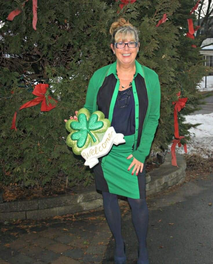 st patricks day green in an outfit