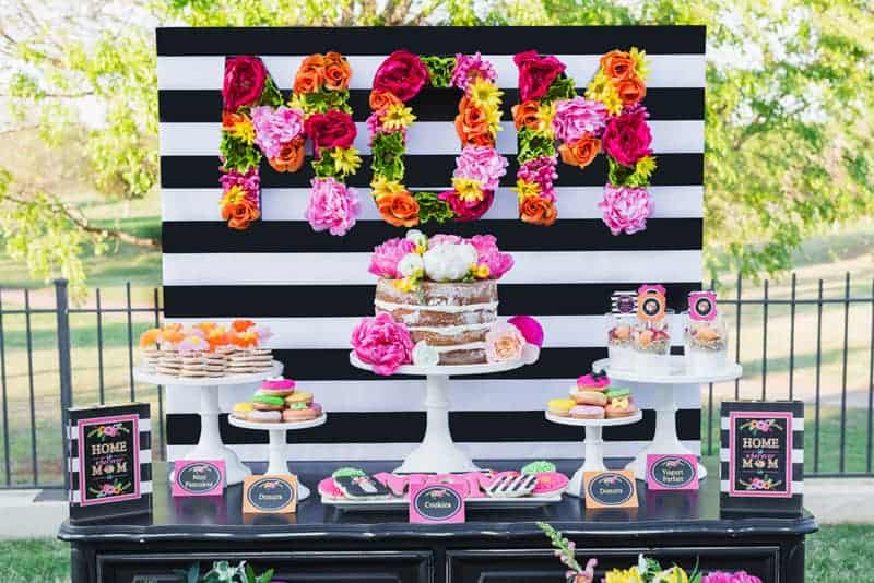 colorful moms brunch decor
