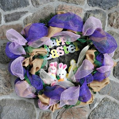 Hoppy Easter Wreath with Decomesh