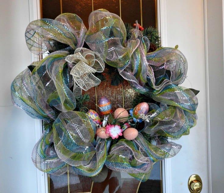 Pastel Easter Wreath for the front door