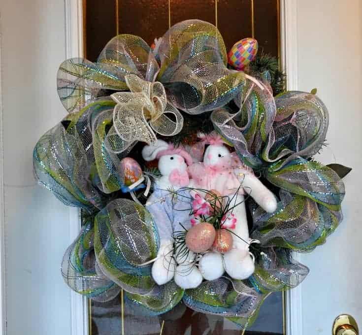 Front door Easter Bunny Wreath