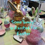 Easter Table Setting with Bunnies