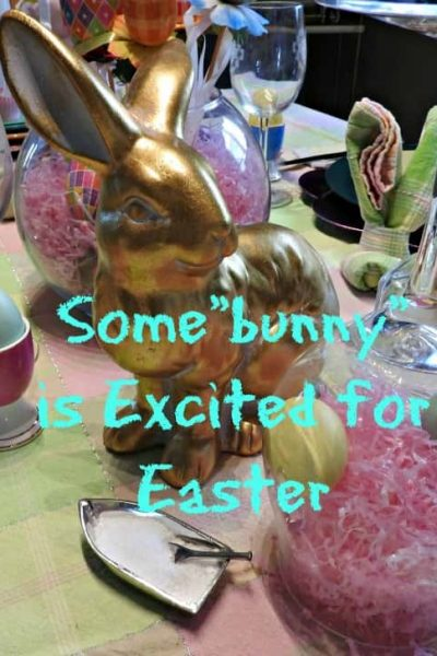 Some Bunny is Excited for the Easter Table