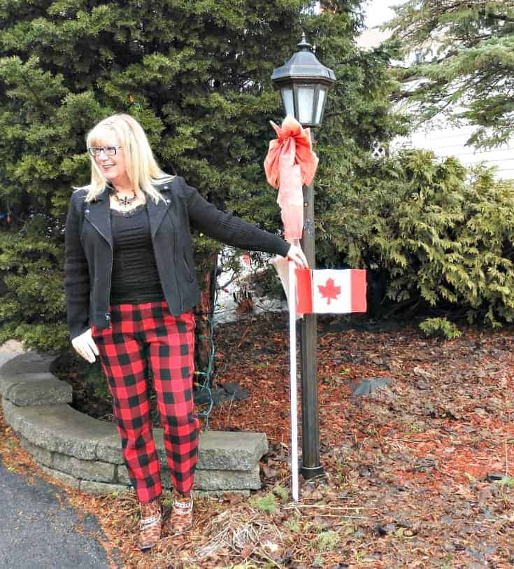 Old Navy Buffalo Plaid Harpers with a wool moto jacket and shoe dazzle leopard booties