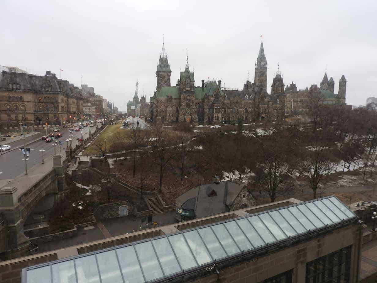 view of Parliament from room 240