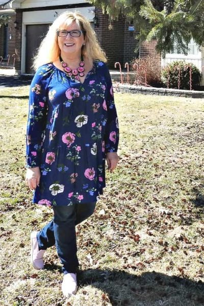 Old Navy Floral and my Staycation