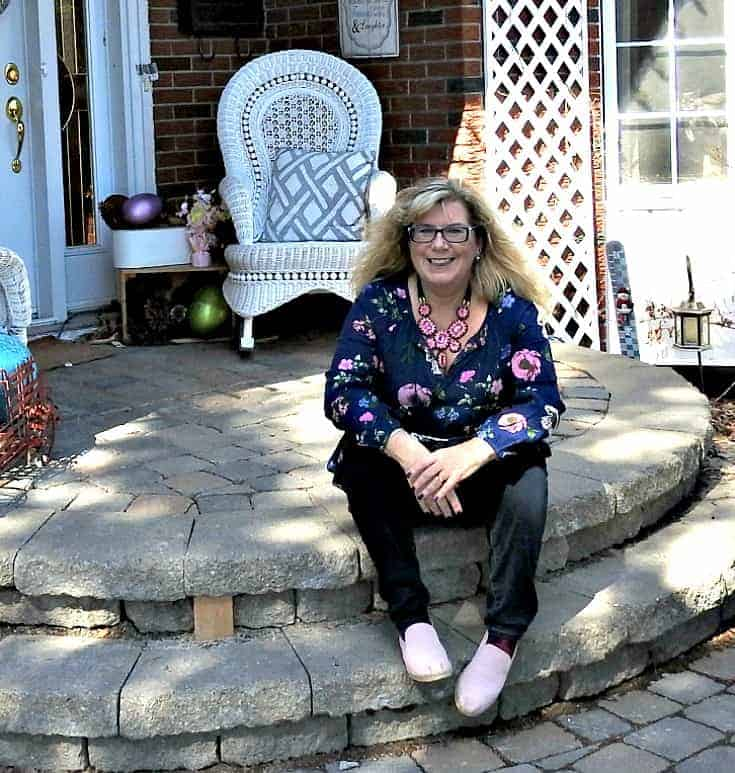 Old Navy Floral Dress and Haggar Dream Jeans with tom's in pink suede