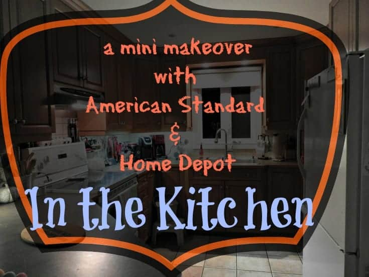 Home depot and american standard kitchen renovation with a new kitchen faucet