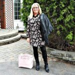 biker chic and floral tunic