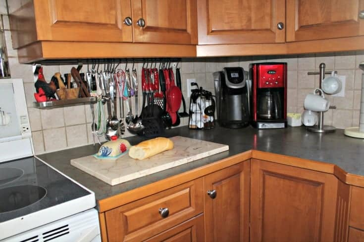 clear the cupboards for a refresh in the kitchen