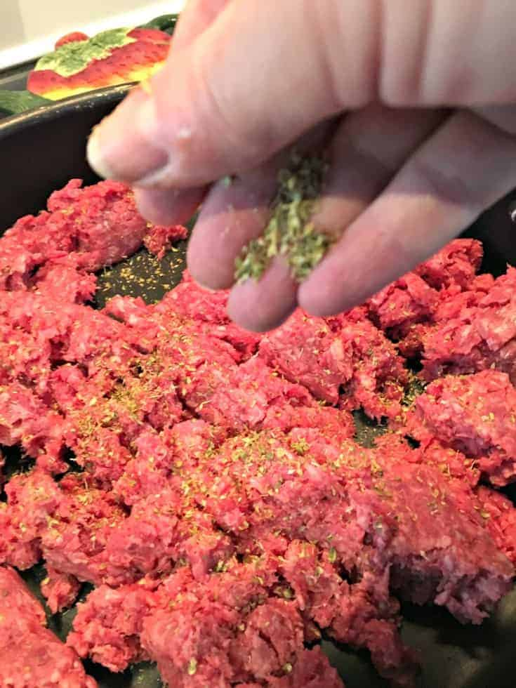 Canadian Shepherd's Pie and frying the beef in a skillet