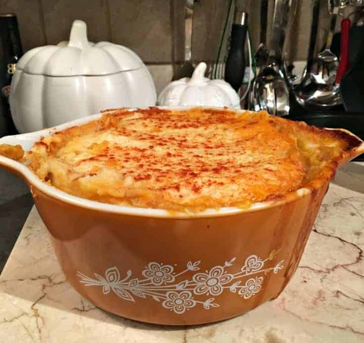 Homemade Canadian Shepherd's Pie ready to serve in under an hour