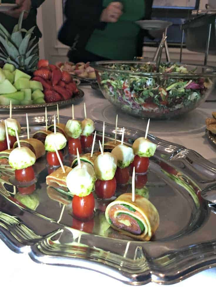 buffet at the Czech Embassy