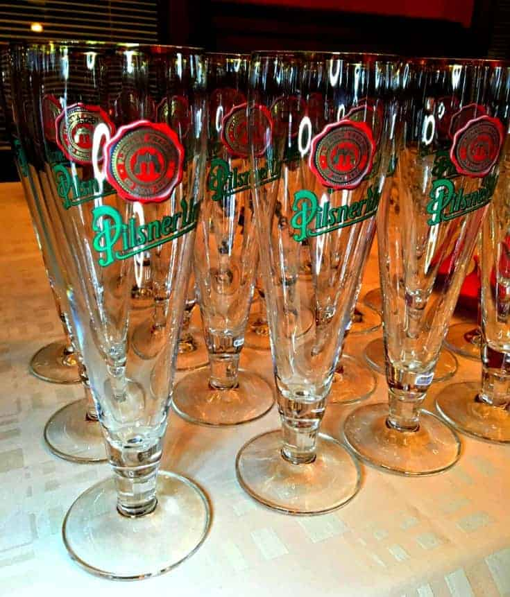 Czech beer and glasses