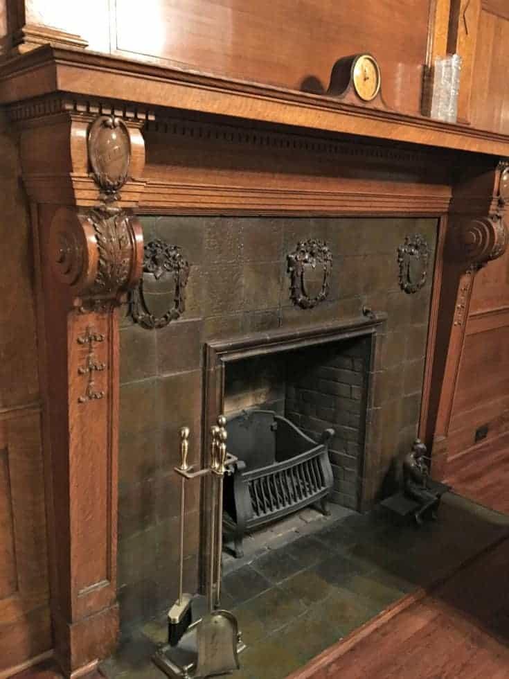 heritage fireplace at Czech Embassy