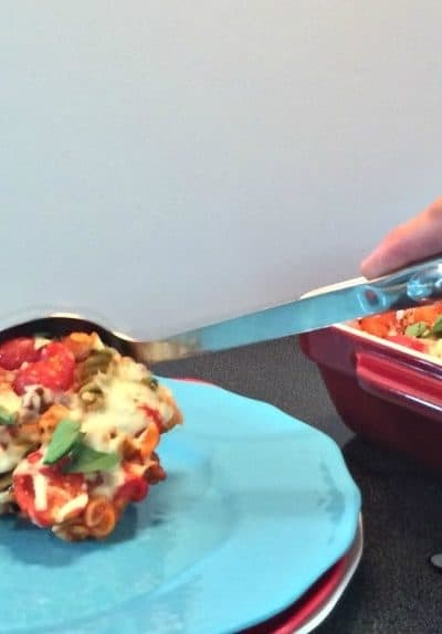 Cheese and Basil Rotini Pasta Dish