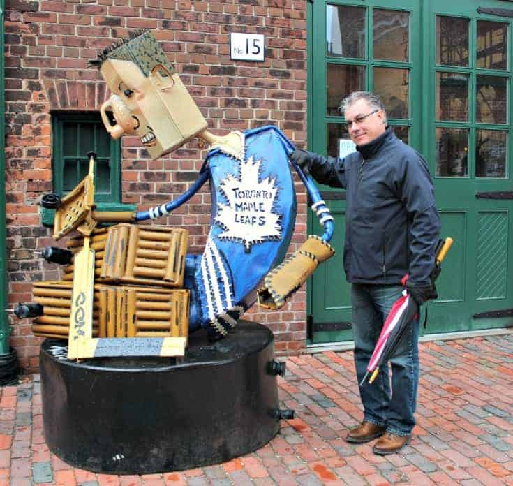 consoling the leaf player in the distillery district