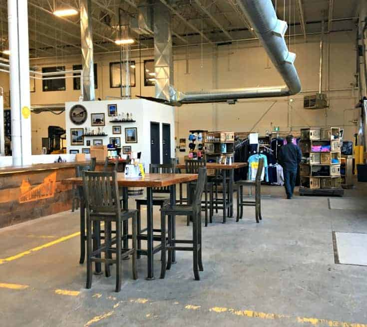 inside of Side launch Brewery in Collingwood