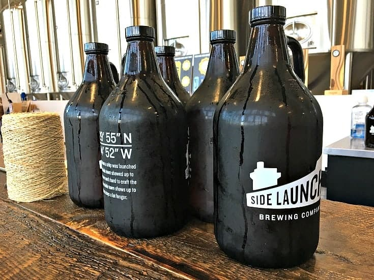 Side launch Brewery in Collingwood and their growlers