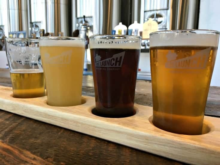 a flight from Side launch Brewery in Collingwood