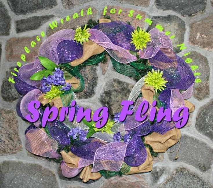 spring fling pretty spring like wreath