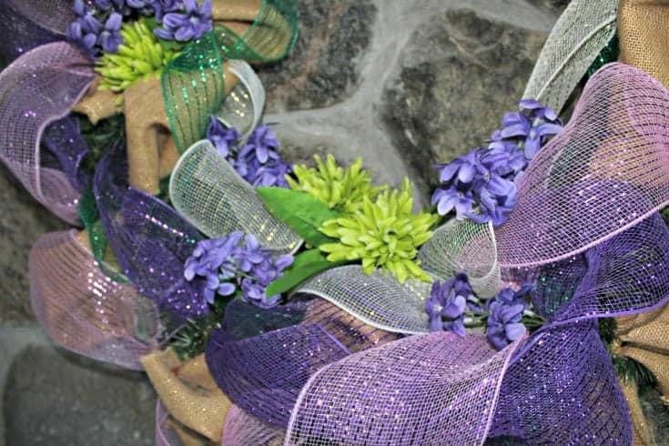 decorating a pretty spring like wreath