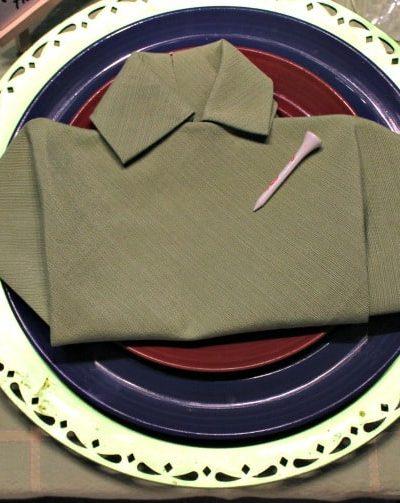 Golf Shirt Napkin Fold for Father's Day