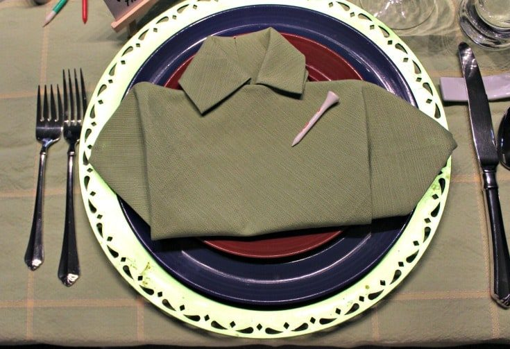 golf shirt napkin