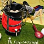 a golf bag centerpiece