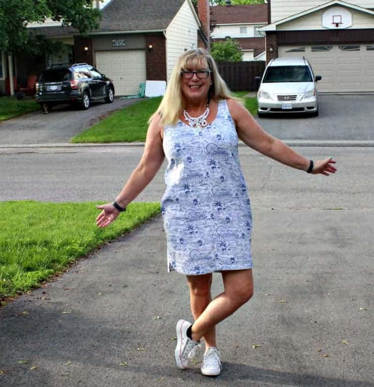 Old Navy Summer Dress with white converse