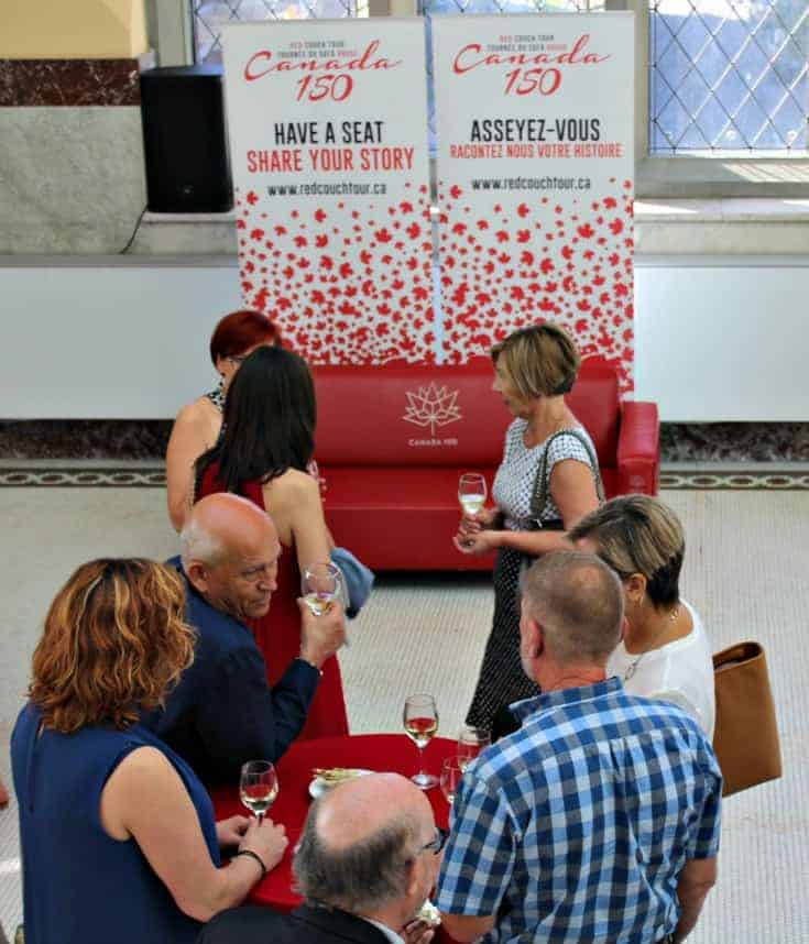 the Red Couch Tour starts at the Canadian Museum of Natureofficial Wine
