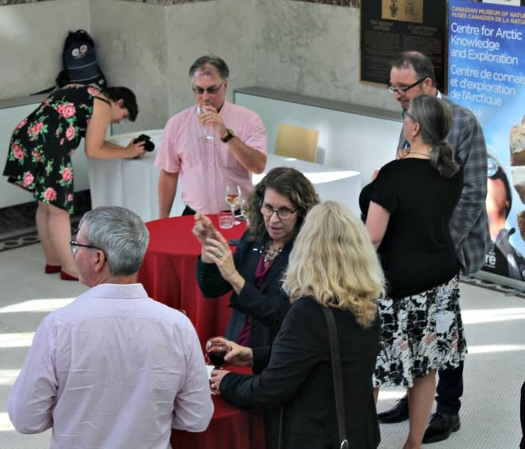 Red Couch reception and the guests at the Canadian Museum of Nature