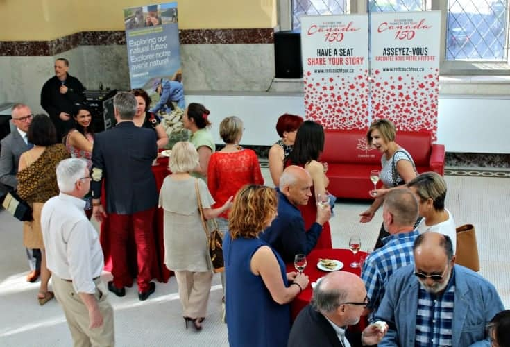 Red Couch Reception at the Canadian Museum of Nature
