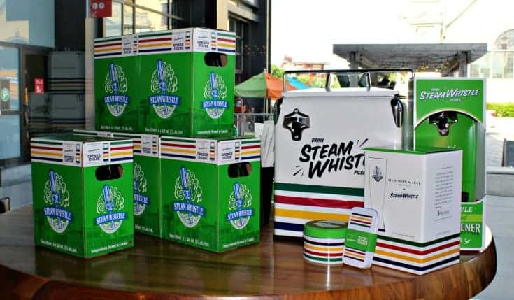 Steam Whistle and Hudson Bay Company paired together