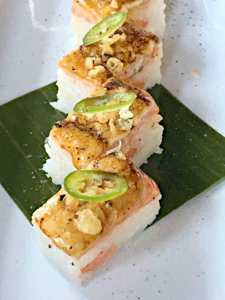 Style Pressed Salmon Sushi