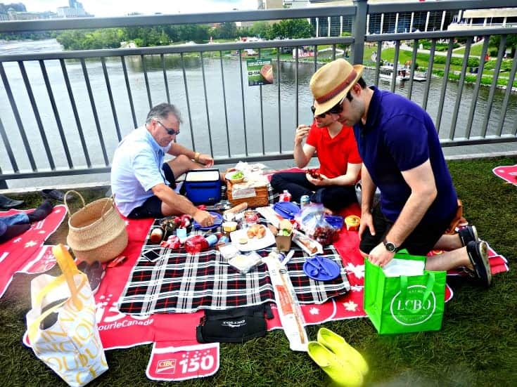 Gourmet spread for the Picnic on the Bridge