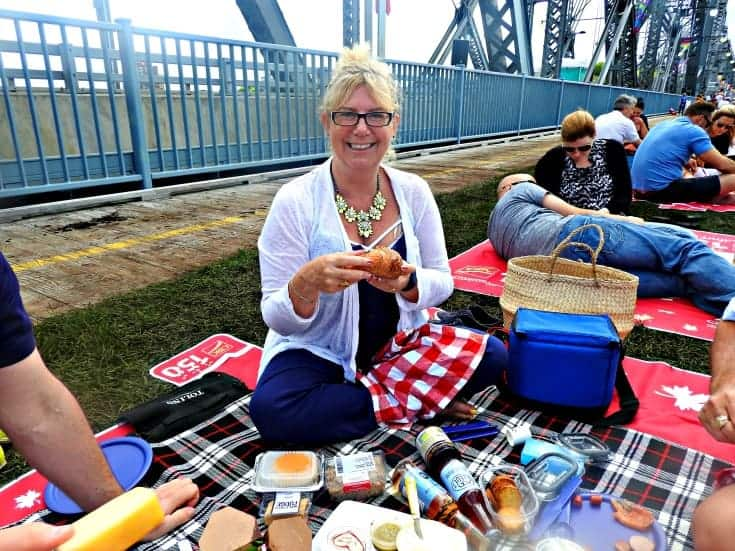 Gourmet spread for the Picnic on the Bridge 7