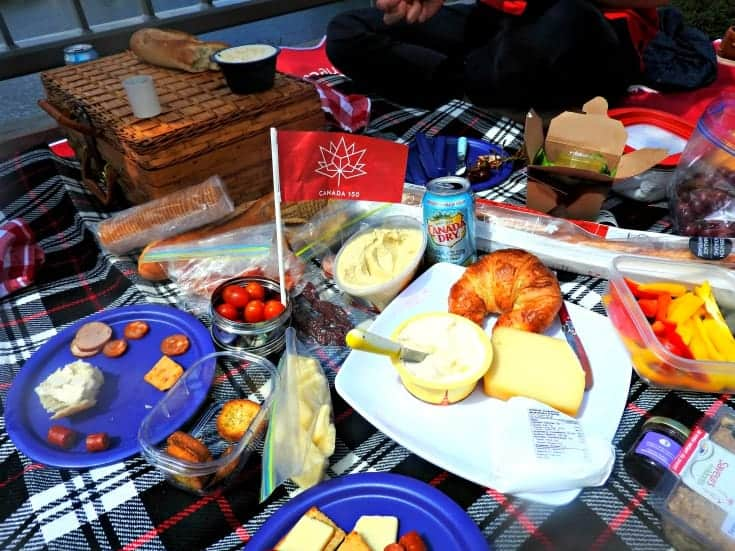 Gourmet spread for the Picnic on the Bridge 6
